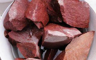 Как правильно выбрать малиновый кварцит (Шокша) для бани: свойства и применение