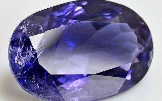Значение и описание иолита: влияние фиалкового камня на знаки зодиака и свойства