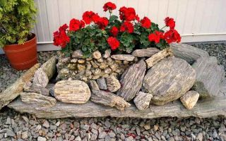 Варианты и идеи клумб из камня своими руками — какой материал взять