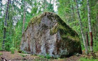 Описание бесового камня в Волосково: история, точный адрес, интересные факты