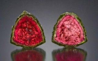 Описание красивейшего арбузного турмалина, свойства и украшения из сочного камня 🍉