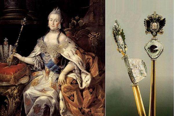 Екатерина II со скипетром с алмазом Орлова