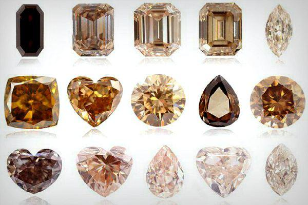 Виды бриллиантов коньячного оттенка