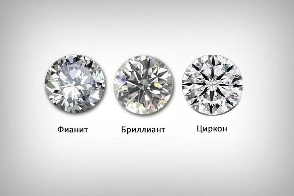 Фианит, бриллиант, циркон