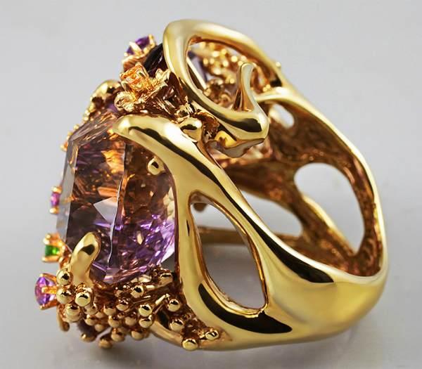 Аксинит кольцо