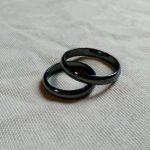 Обручальные кольца 2021 черная пара
