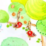 детские сережки брэнда Sokolov Kids